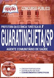 Apostila Prefeitura de Guaratinguetá 2017 Agente Comunitário de Saúde: