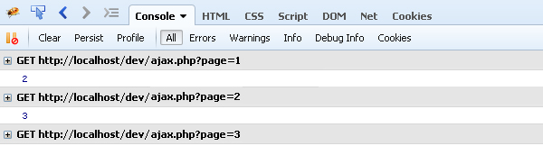 Simple pagination in PHP using jQuery AJAX