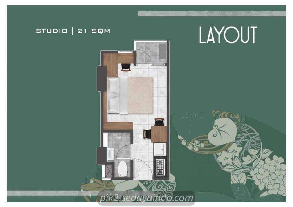 Tipe Studio Apartemen Tokyo Riverside