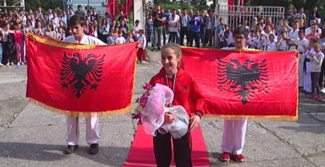 Ermelinda Kadiu, the 13 year old Albanian declared Balkans Champion in Karate