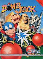 Carátula de Bomb Jack, C64, disco