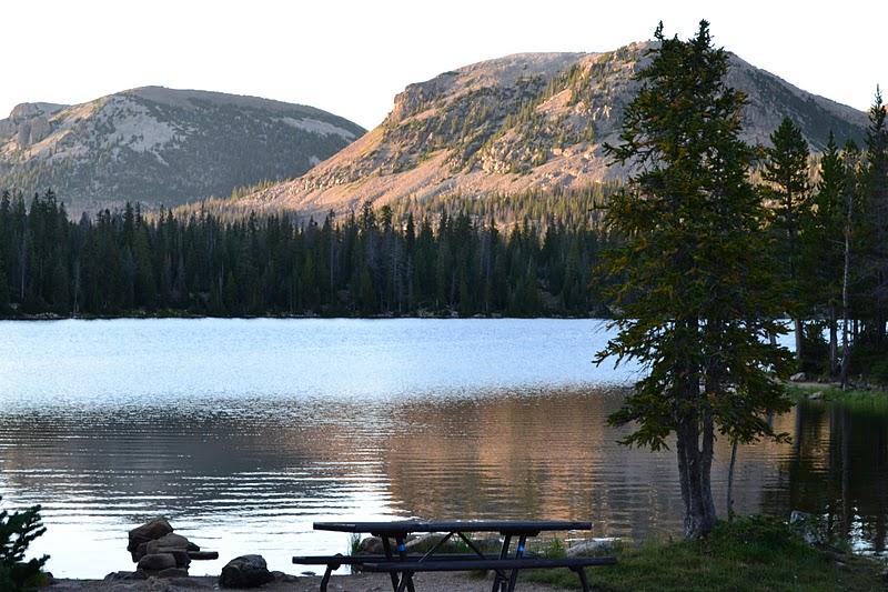 Go Team Scranton Mirror Lake Camping High Uintah Mountains