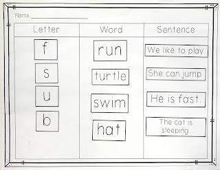 Letter, Word, Sentence