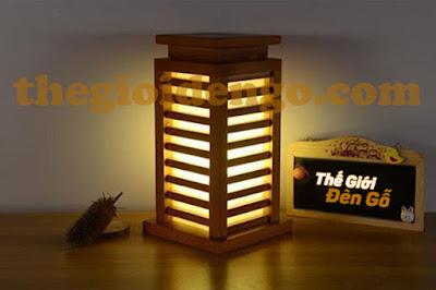 Thế Giới Đèn Gỗ - Đèn gỗ trang trí để bàn được làm từ gỗ tự nhiên