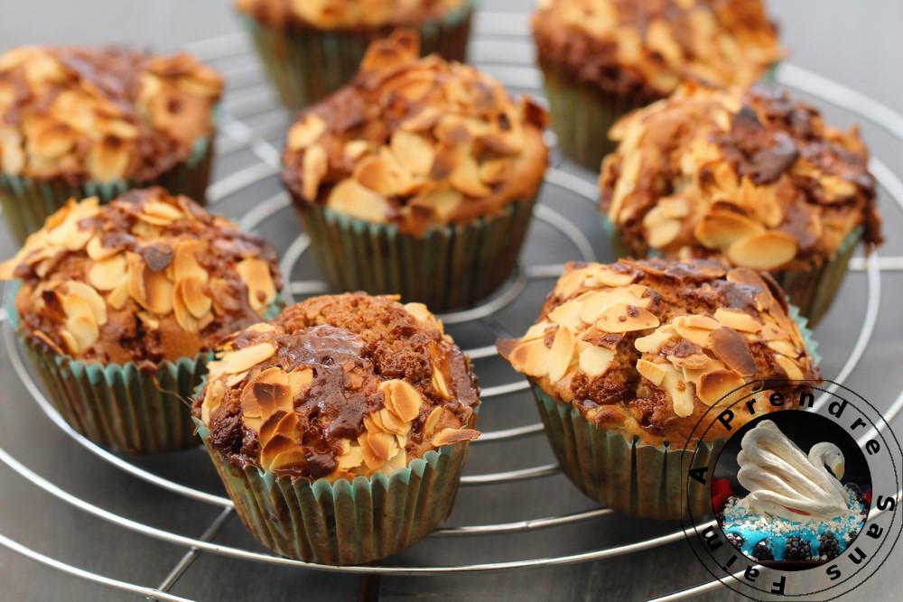 Muffins poires caramel