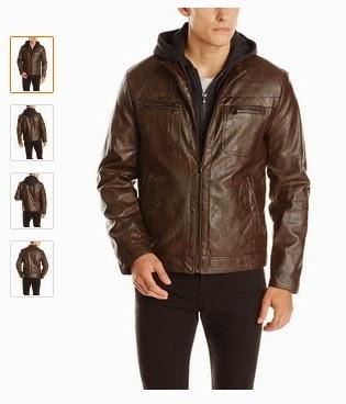 Kenneth Cole Men s Jacket  Men s Marble Faux-Leather Moto Jacket ... cf617b038
