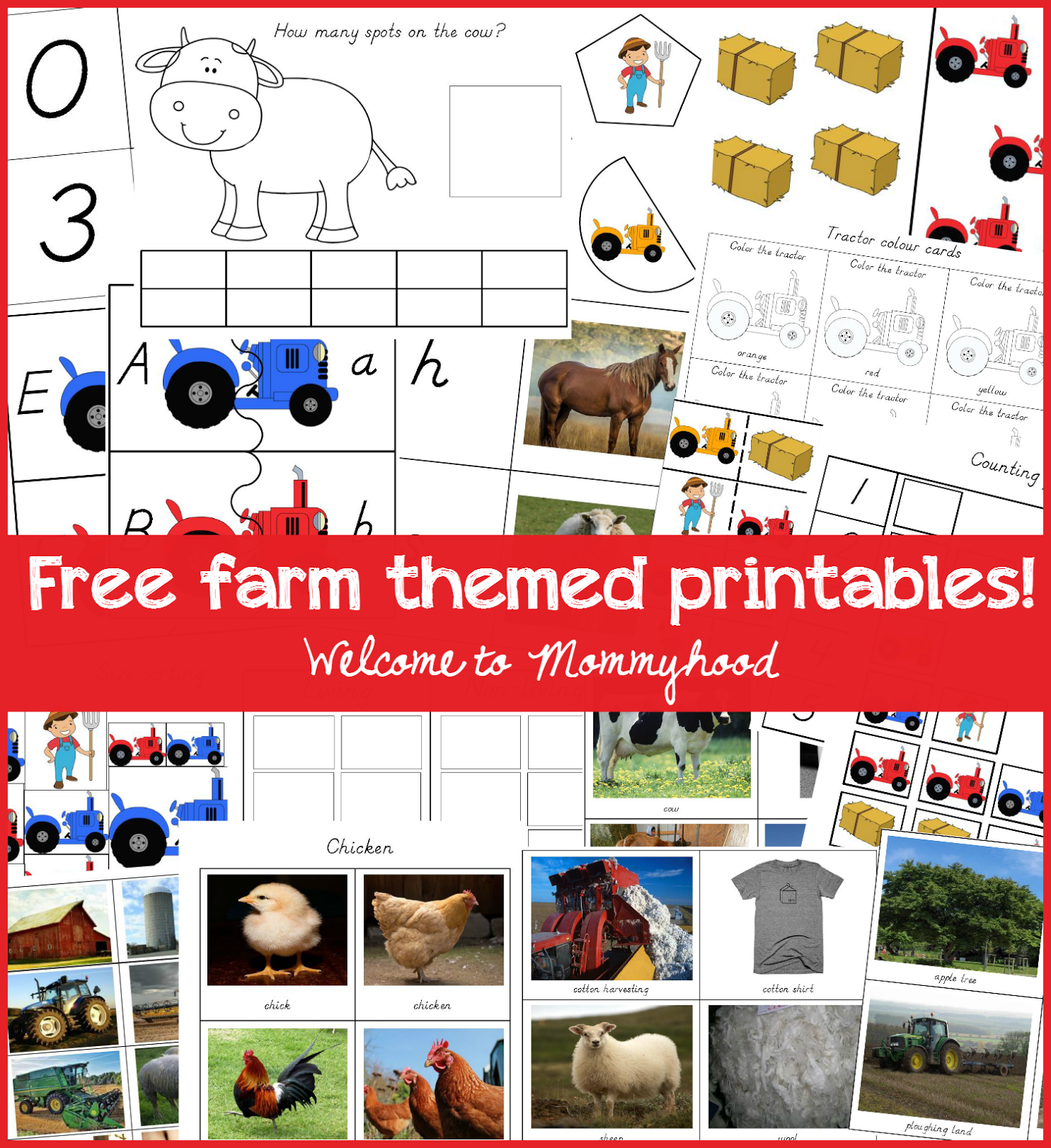 Welcome To Mommyhood Farm Themed Printables
