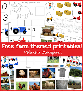 FREE farm themed printables for preschoolers and toddlers by Welcome to Mommyhood #montessori, #preschool, #toddleractivities, #preschoolactivities,