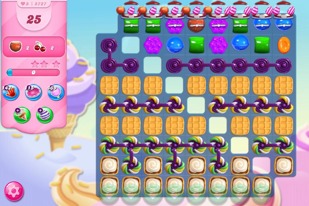 Candy Crush Saga level 5727