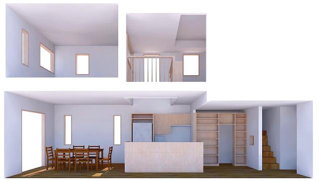 浦和、メーカーハウスのリフォーム 断面のスケッチ