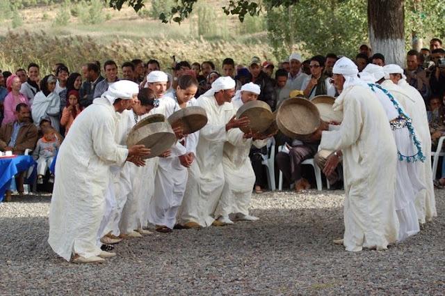 Ahidous en el Festival de la Cereza en Sefrou (Marruecos)
