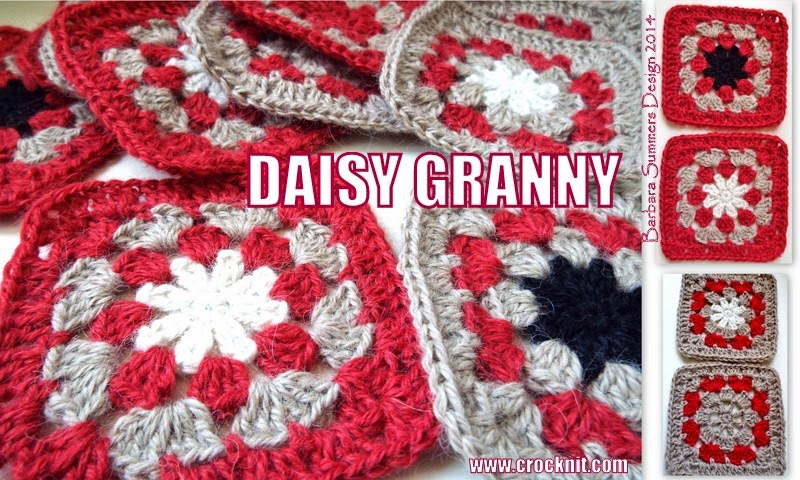 afghans, granny squares, daisy, free crochet patterns,