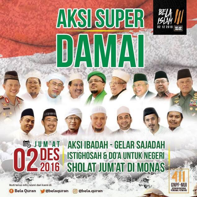 """Ustadz Arifin Ilham Ajak Seluruh Umat Islam Banjiri """"Aksi Super Damai 212"""" di Monas : Detikberita.co Terhangat Hari Ini"""