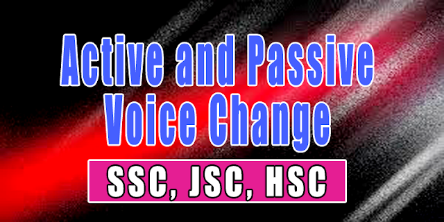active and passive voice change