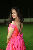 Actress Pujita Ponnada in beautiful red dress at Darshakudu music launch ~ Celebrities Galleries 080.JPG