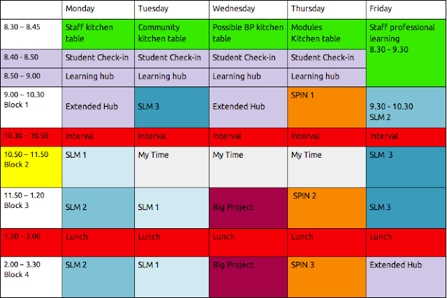 School Timetable Template For Kids