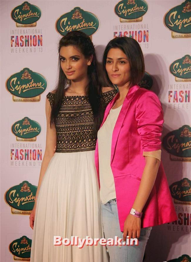 Diana Penty and Drashta Sarvaiya, Hot Celebs at Signature International Fashion Weekend