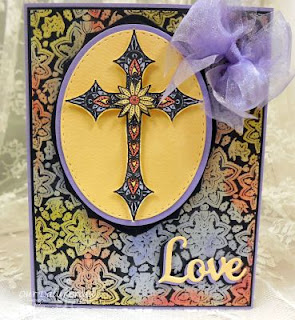 Our Daily Bread Designs, Boho Cross, Boho Paisley Background, Stitched Ovals, Ovals,FAITH, HOPE & LOVE DIES, designed by Robin Clendenning