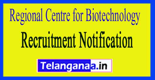 RCB Regional Centre for Biotechnology Recruitment