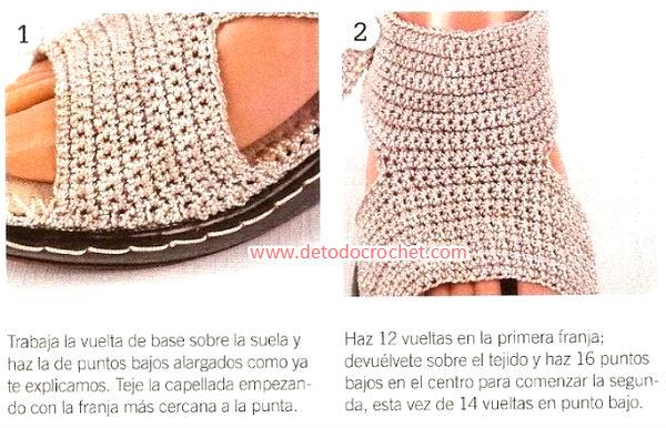como se tejen sandalias crochet
