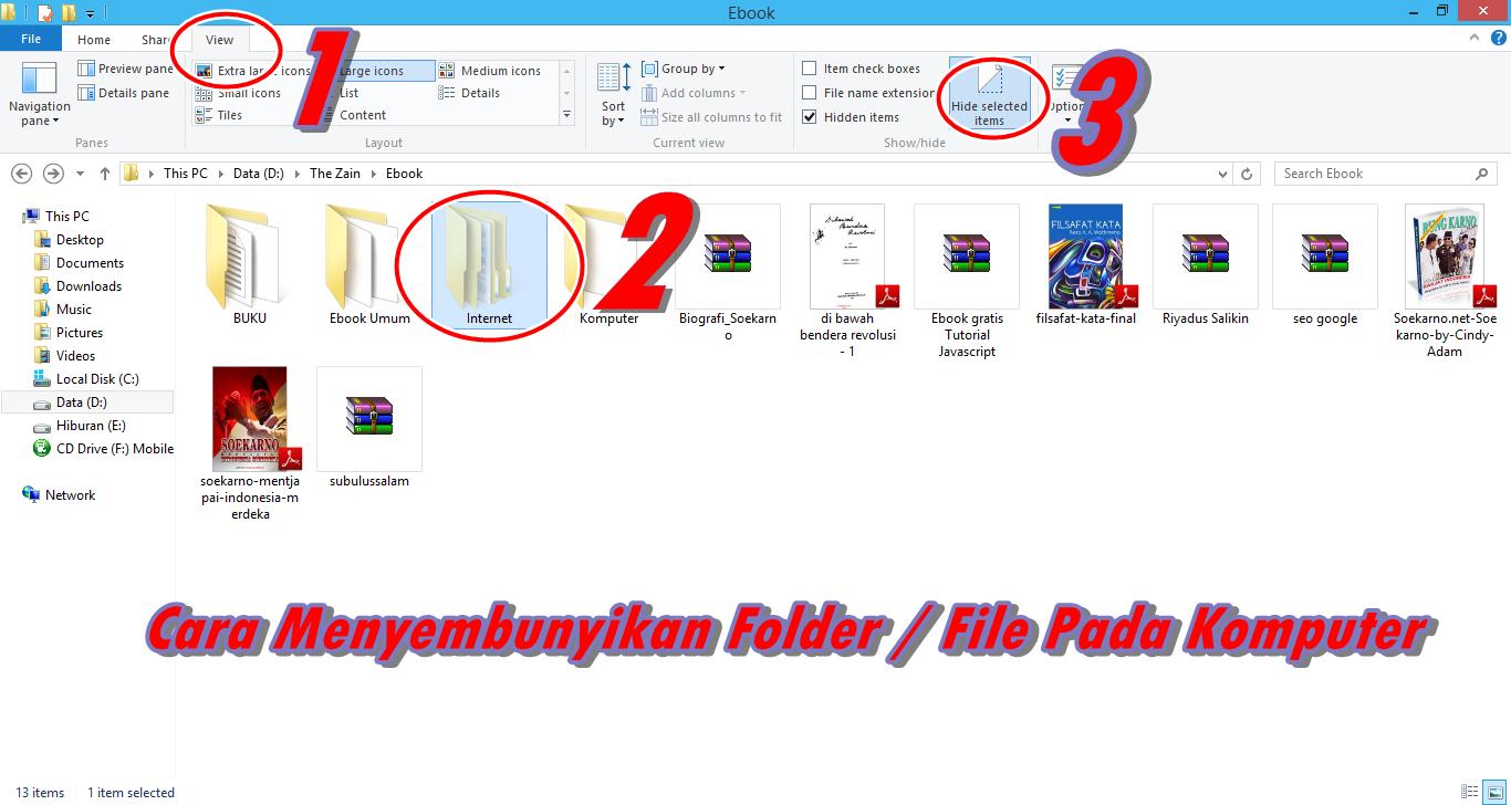 Menyembunyikan Folder / File Pada Komputer