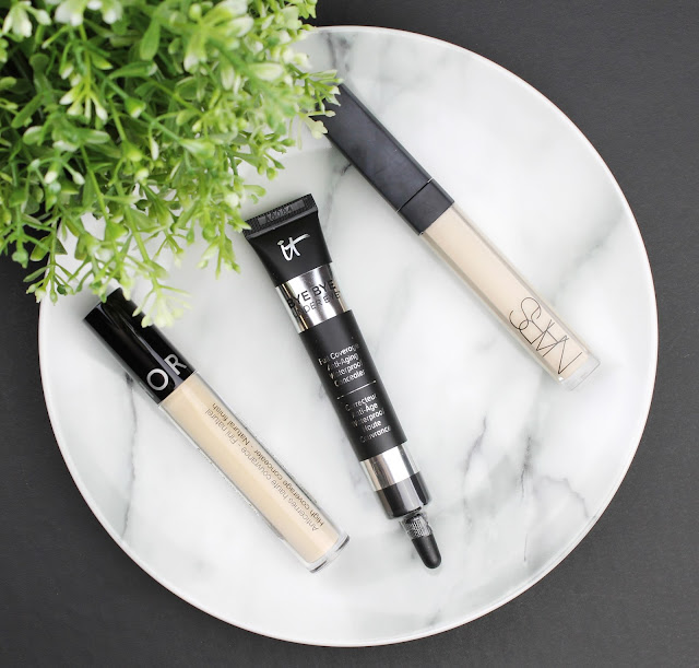 concealer showdown comparison light pale skin fair Sephora high coverage concealer it cosmetics bye bye under eye nars radiant creamy review swatch swatches