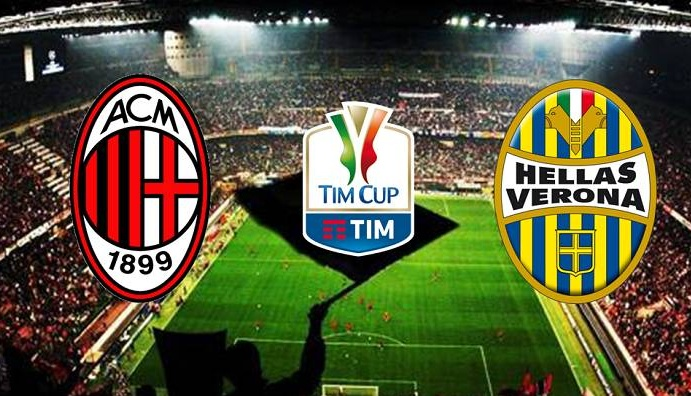 MILAN-VERONA Streaming Live Gratis, dove vederla | Calcio Coppa Italia