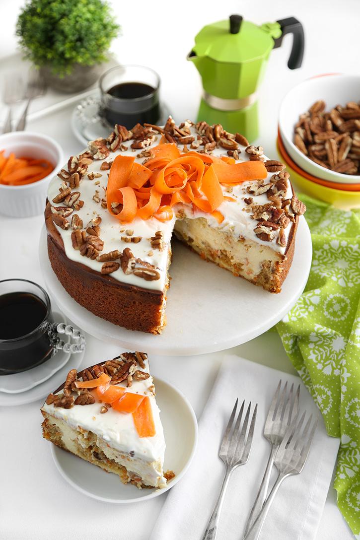 Carrot Cake Swirl Cheesecake Sprinkle Bakes
