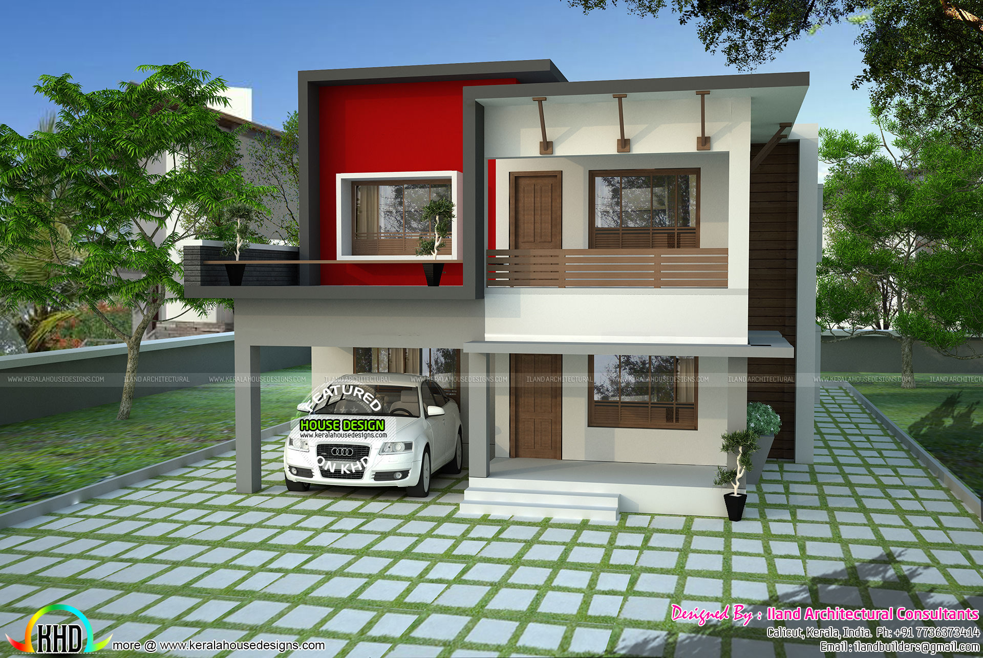 1700 Sq Ft Modern Flat Roof House Kerala Home Design And