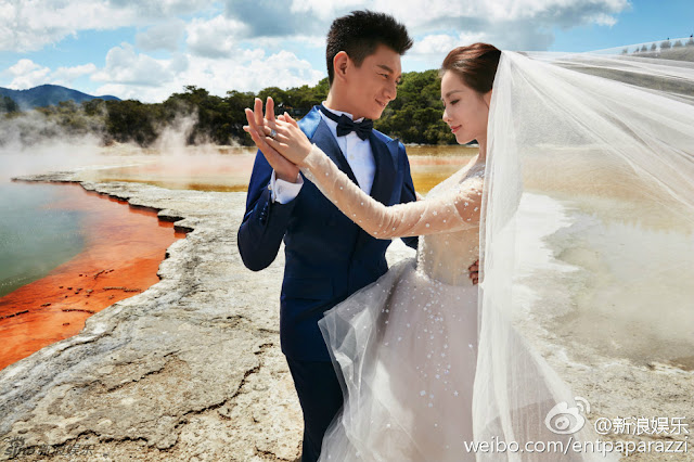 wedding shoot Liu Shi Shi and Nicky Wu from Scarlet Heart