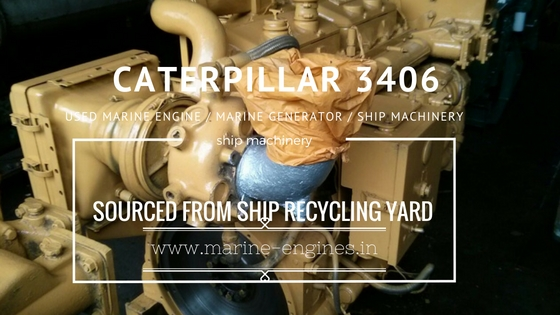 caterpillar, CAT 3406, marine, used, generator, motor, motori, moteur, engine, ship, machinery, running, condition, ship recycling