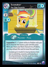 My Little Pony Scootaloo, Fan Club Founder Canterlot Nights CCG Card