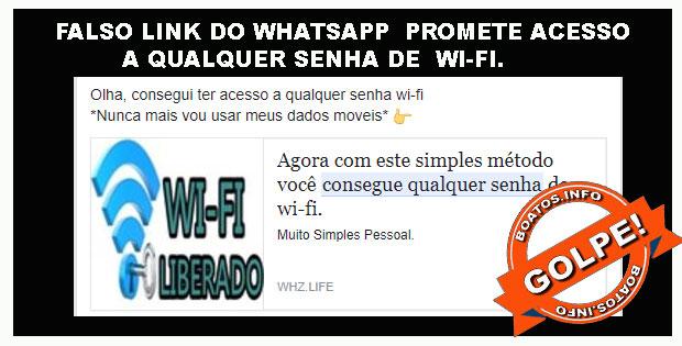 Site promete acesso a qualquer senha wi-fi.