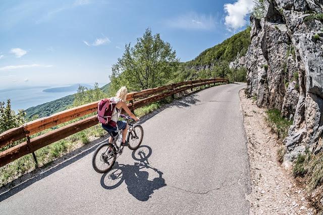MTB - Monte Vojak - Mountainbike Tour auf den höchsten Berg von Istrien