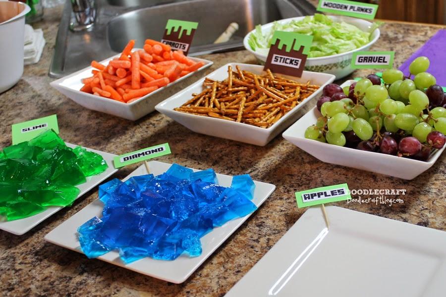 Doodlecraft Minecraft Birthday Party Food