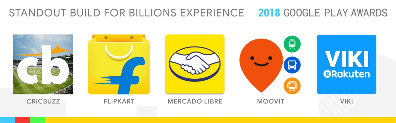 Standout Build for Billions Experience: Cricbuzz, Flipkart, Mercado Libre, Moovit, Viki