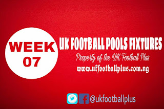 WEEK 07: UK 2018/2019 FOOTBALL POOLS ADVANCE FIXTURES | 25-08-2018 | www.ukfootballplus.com.ng
