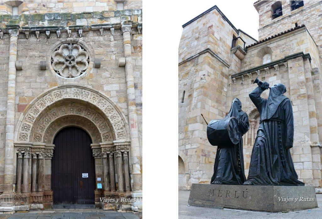 Portada y Merlu de la Iglesia de San Juan Bautista, Zamora