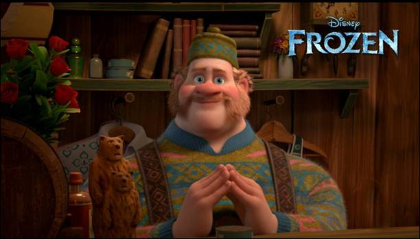 Frozen movie character Oaken