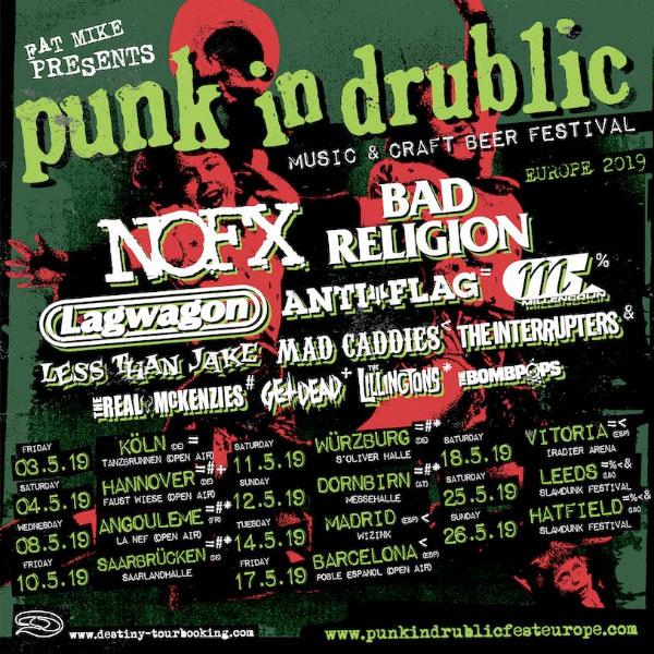 Punk In Drublic Festival announce Europe tour