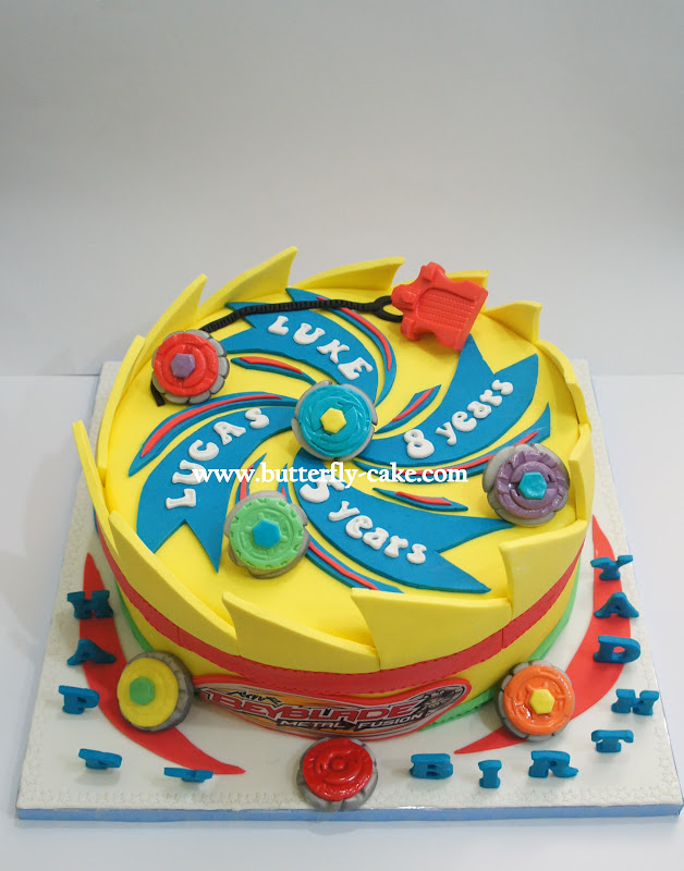 Butterfly Cake Beyblade Cake For Luke And Lucas
