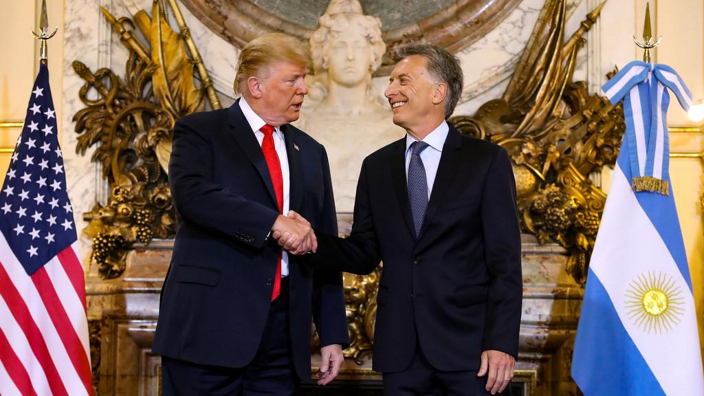 Macri le agradeció al presidente Trump su apoyo a la Argentina
