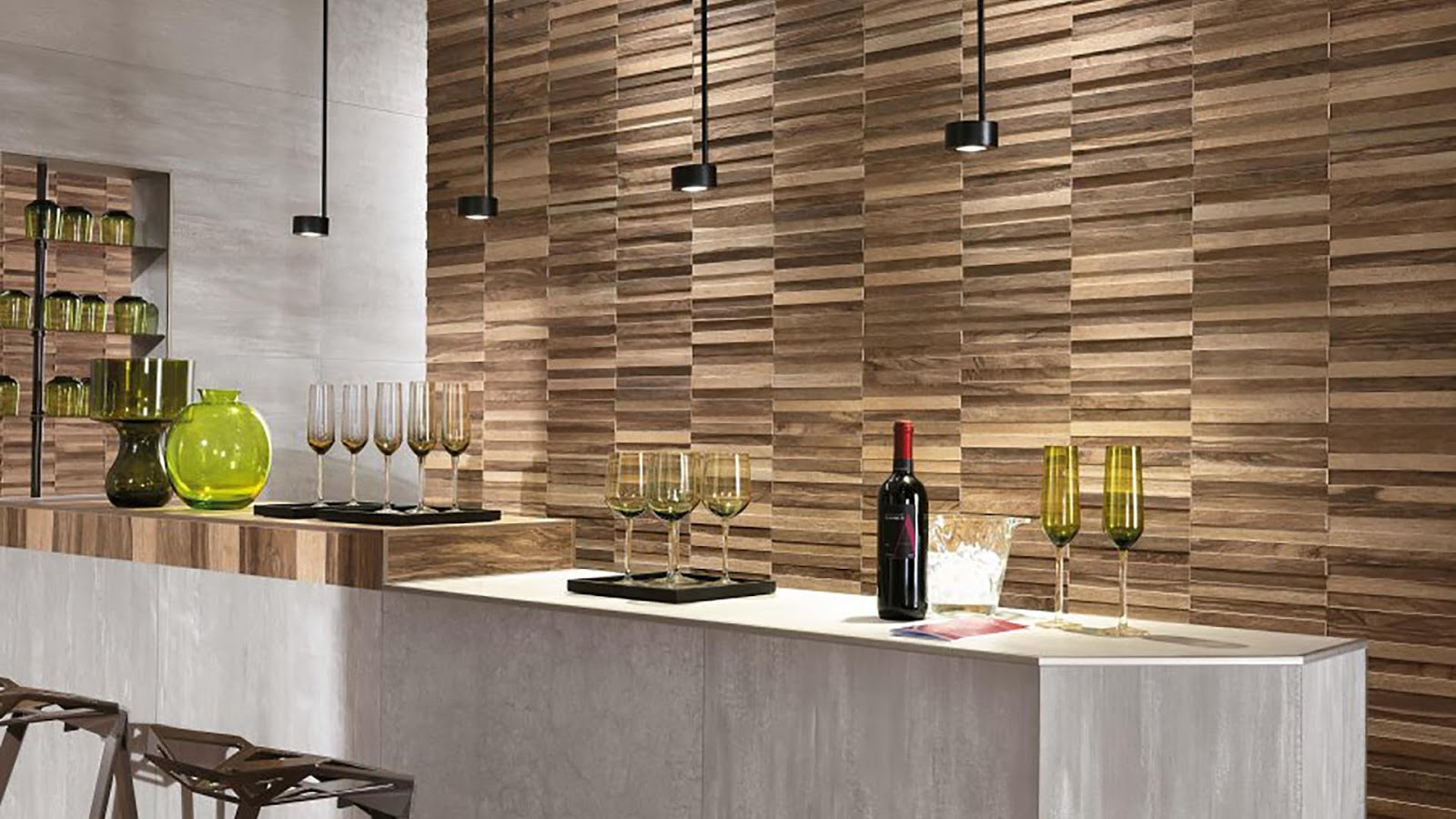 wood tiles design with etic pro collection - prestigious and
