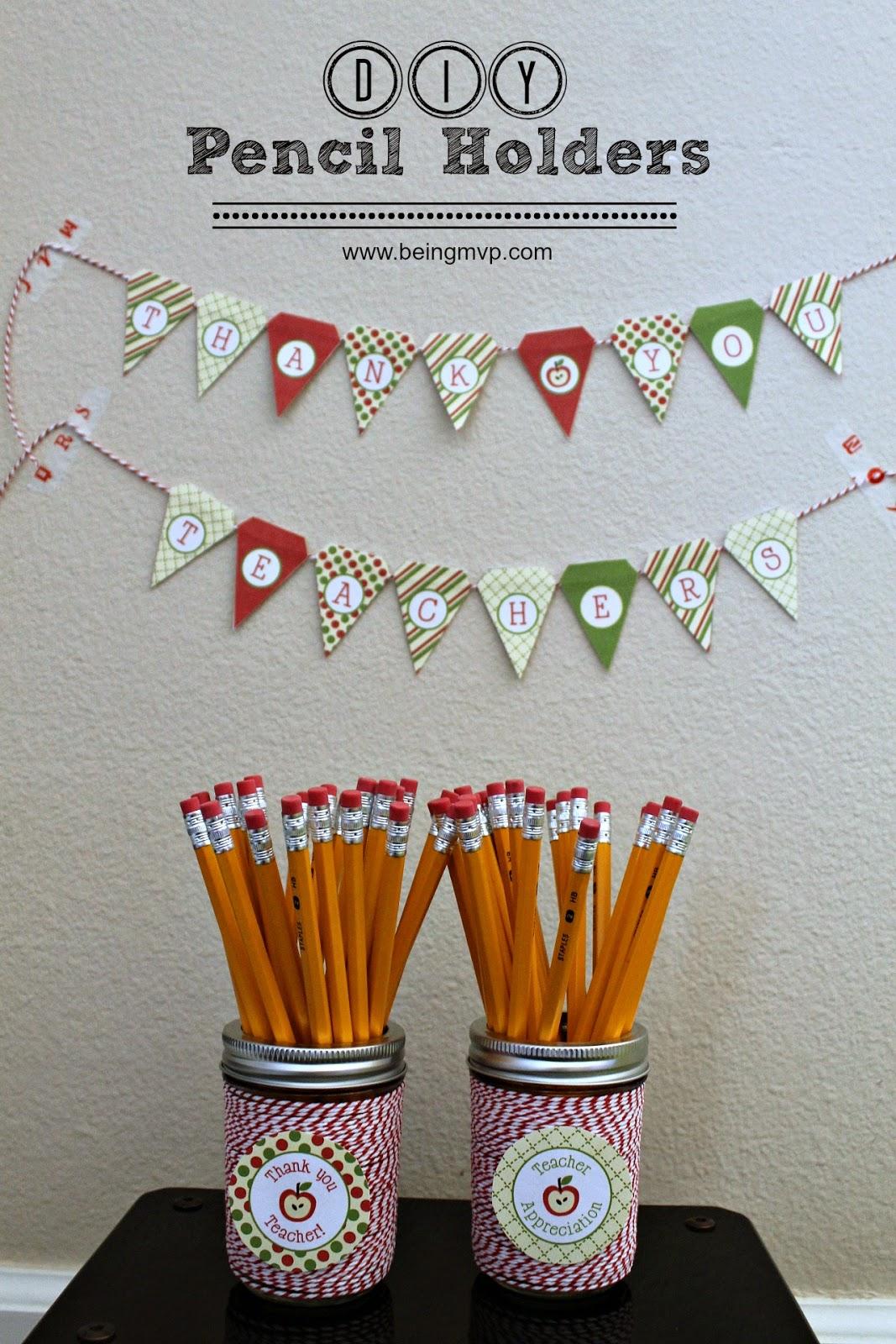 Being Mvp Teacher Appreciation Day Gift Idea Diy Pencil Holders