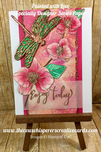 Painted with Love Paper, Valentines, Card, Stampin UP