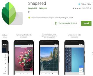 Aplikasi edit foto terpopuler di android