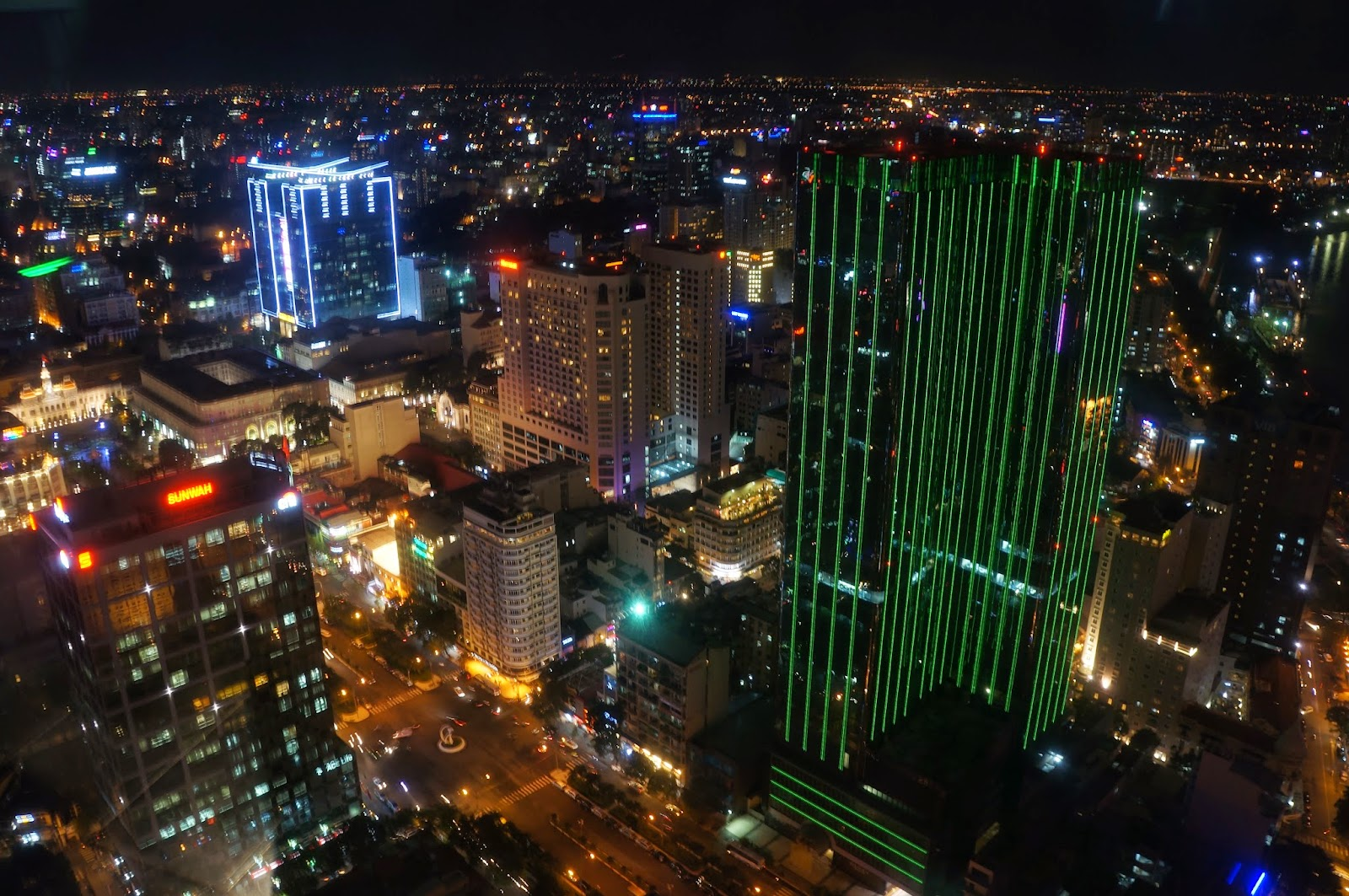 View of Ho Chi Minh City from Saigon Skydeck