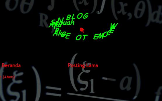 Tips Membuat Tulisan Mengikuti Kursor Valid Html5 di Blog