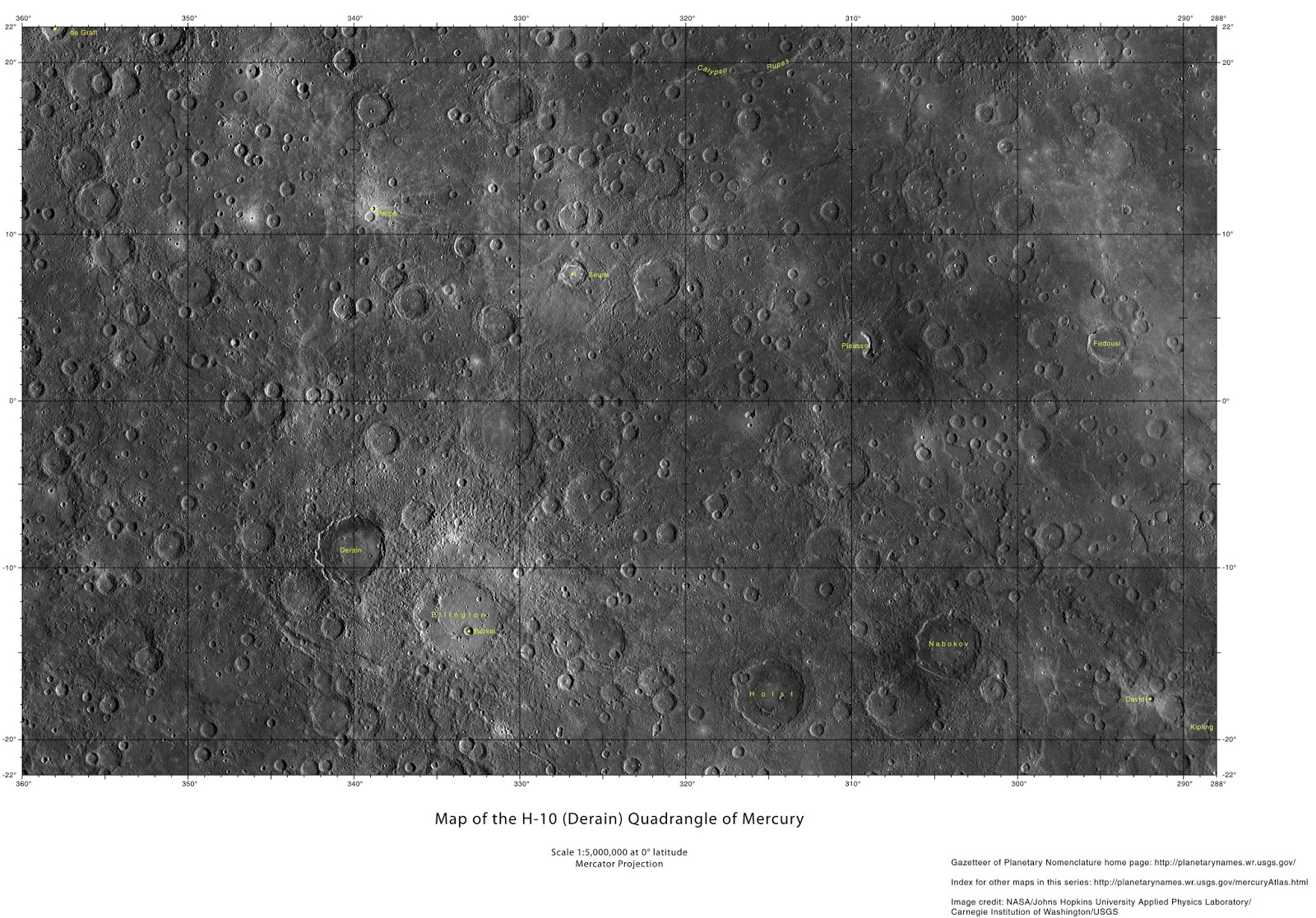 planetary names 15 millionscale maps of mercury - HD 1600×1116