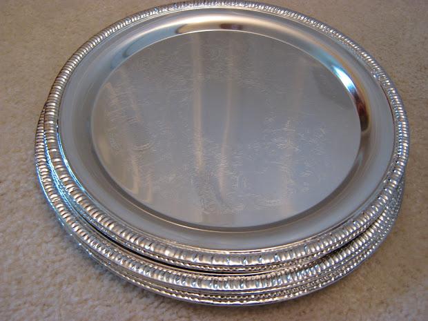 Fake- Frugal Silver Platter Wreath